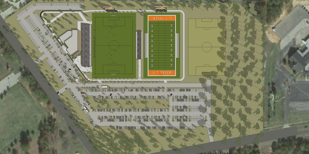 UTT Football Stadium Aerial View